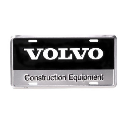 Picture of Metal License Plate with VCE Black/Silver