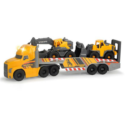 Picture of Truck with Volvo Excavator and Loader